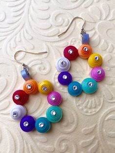 Hey, I found this really awesome Etsy listing at https://www.etsy.com/listing/217868491/paper-quilled-earrings-swarovski