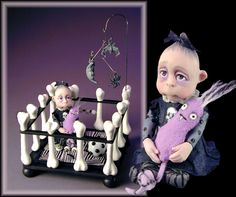 jodi creager dolls | One of a Kind Miniature ArtWork, hand sculpted in Quality Polymer Clay ...