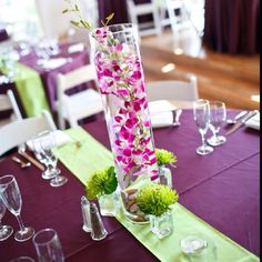 Our floating orchid centerpieces :)