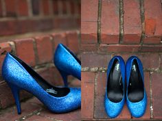 diy gliter shoes - these rock. :)