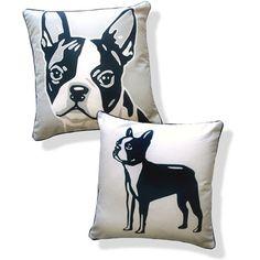 Naked Decor Doggie Style Reversible Boston Terrier Pillow