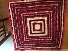 My new listing on Etsy, a handmade crochet lapghan, every round is a different stitch.