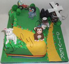 1st birthday baby jake cake