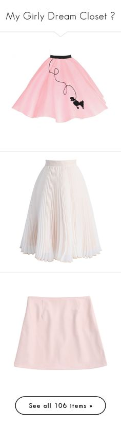 """My Girly Dream Closet ♡"" by xx-isabella-xx on Polyvore featuring skirts, bottoms, costumes, pink, women's clothing, long elastic waist skirt, embroidered skirt, cocktail skirt, circular skirt and elastic waist circle skirt"