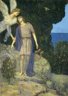 'Orphée' de Pierre Puvis De Chavannes (1824-1898, France)