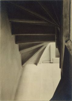 Doylestown House—Stairs from Below. Charles Sheeler (American, Philadelphia, Pennsylvania Dobbs Ferry, New York), 1917 Museum Of Fine Arts, Art Museum, Charles Sheeler, Fine Art Photography, Amazing Photography, Creative Photography, Tina Modotti, Modern Photographers, Art Diary