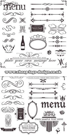 restaurant menu logo graphic elements www.cheap-logo-design.co.uk #menudesign #restaurantlogo #logoconcepts