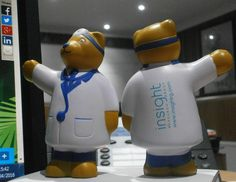 Stress Toy Tuesday: The Doctor is in,this one a little more squishy than usual... and it's a bear... http://www.promoparrot.com/giveaways/stress-balls-stress-toys/bespoke-stress-toy.html #bear #doctor #stress #toy #promo