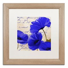 Coquelicots Bleues I by Color Bakery White Matte Birch Frame 16x16Inch >>> Read more reviews of the product by visiting the link on the image.(It is Amazon affiliate link) #black