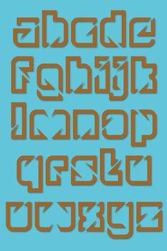 glimpse typeface by Paul Bokslag, via Behance
