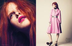 magdalena jasek model4 Magdalena Jasek is Pretty in Pink for LOfficiel Netherlands August 2013