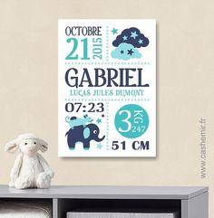 Cadeau de naissance bébé, stats de naissance, décoration chambre enfant garçon fille - Fichier Imprimable - n°2