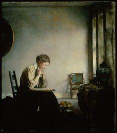 Edmund Charles Tarbell (1862–1938) - A Girl Reading, 1909