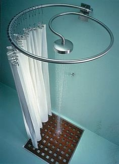 good idea for outside shower