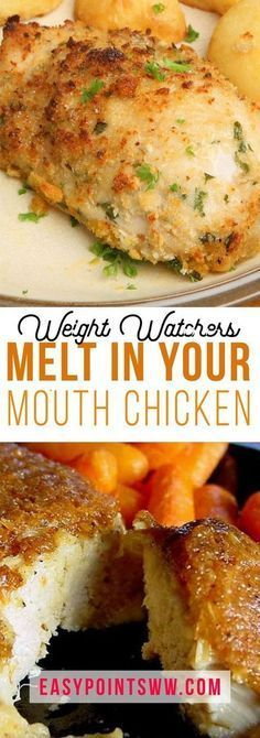 Melt In Your Mouth Chicken (Weight Watchers) - Health Plats Weight Watchers, Weight Watchers Diet, Weight Watcher Dinners, Weight Watchers Chicken, Weight Loss Meals, Weight Watchers Lasagna, Weight Watchers Smart Points, Ww Recipes, Skinny Recipes