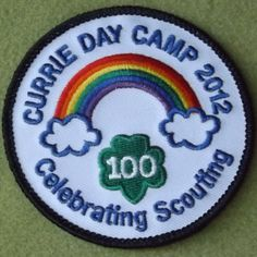 Girl Scouts Oregon Southwest Washington 100th Anniversary Currie Day Camp patch.