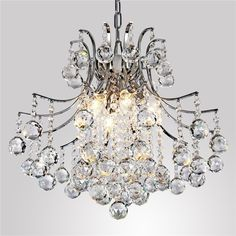 Modern Crystal Chandelier with 6 Lights high-quality materials transparent Chandelier Lamp Living Room Hanging Lamps