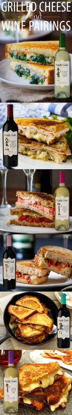 Grilled Cheese and Wine Pairings - Cabot Creamery(Basic Grilled Cheese) Wine And Cheese Party, Wine Tasting Party, Wine Cheese, Sandwiches, Wine Paring, Hot Dogs, Wine Recipes, Cooking Recipes, Tapas