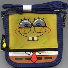 Spongebob Squarepants Wallet with Strap - Spongebob Mini Purse * Details can be found by clicking on the image.