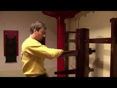 Sifu Sergio showing wooden dummy section one of Ip Man Wing Chun kung fu system - http://wingchuncentral.net/sifu-sergio-showing-wooden-dummy-section-one-of-ip-man-wing-chun-kung-fu-system/