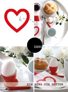 Frühstück ans Bett, #Dekoration für den #Muttertag.