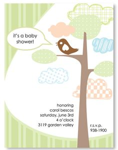 "Invite inspiration for ""Mama's Nesting"" baby shower"
