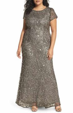 6ce9449cd73 Adrianna Papell Embellished Scoop Back Gown (Plus Size) Plus Size Formal  Dresses