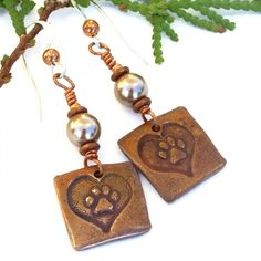 The meaningful Love My Dog dog rescue earrings are a perfect jewelry gift for the woman who adores her dogs!