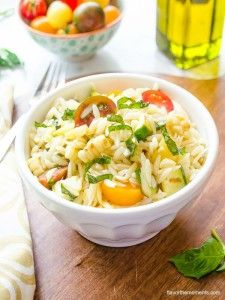 Summer Vegetable Orzo Pasta Salad - Flavor the Moments