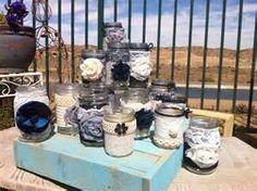 Image detail for -RUSTIC WEDDING DECOR. 15 Bulk Burlap Lace Mason Jars for Head Table ...