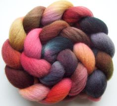 Red Planet Hand dyed Falkland Combed Top 4oz by woolamina, $15.00