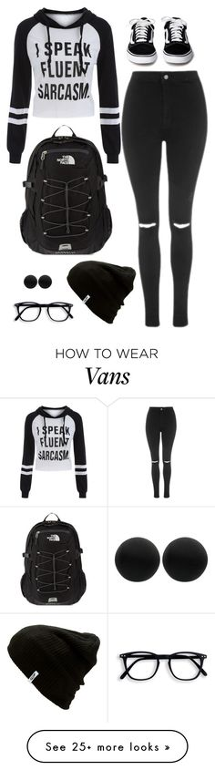 """""""Untitled #1174"""" by samantha-hannum on Polyvore featuring Topshop, The North Face, Vans and Thomas Sabo"""