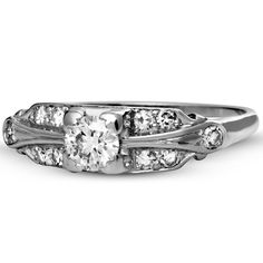 Platinum The Rhapsody Ring, large top view