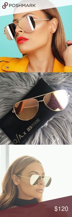 NWT Quay x Desi Perkins High Key Sunglasses Gold YouTube Beauty Guru Desi Perkins and Quay sunglasses collaboration High Key sunglasses. Gold frame with gold mirrored lense. Brand new with tags, never worn, limited edition release! Quay Australia Accessories Sunglasses