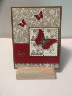 Vintage Birthday Designs By Dee Isley Deeisleystampinup Flipflops Deeyahoo Custom Designed Cards