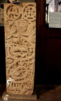 Anglo-Saxon grave slab in St Peter's Church, Northampton Anglo Saxon History, Ottonian, Romanesque Art, St Peter's Church, Germanic Tribes, Pagan Art, Early Middle Ages, Celtic Art, Medieval Art