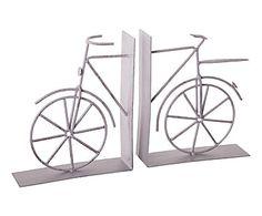 Set de 2 sujetalibros de madera Bicicleta