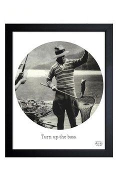Oliver Gal 'Turn Up the Bass' Framed Print - Grey