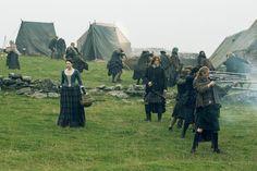 Caitriona Balfe as Claire Fraser and Sam Heughan as Jamie Fraser in 'Outlander' Season 2, Episode 9 '-- 'Je Suis Prest'