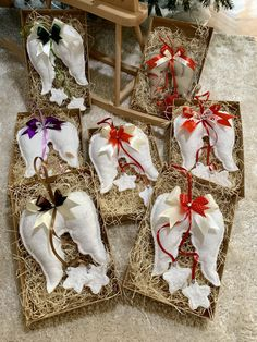 Ručne šité anjelské krídla, cca 20cm veľké + stuha. Celá dlžka 45cm. Amart design Angel Wings, Gift Wrapping, Handmade, Gifts, Gift Wrapping Paper, Hand Made, Presents, Wrapping Gifts, Favors