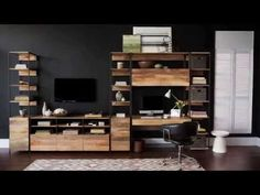 """Industrial Modular 33"""" Open + Closed Storage 