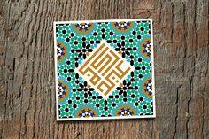 Eid Mubarak greeting card Templates Islamic design greeting card template with colorful morocco pattern. The arabic kufi calligraphy mea by Eid Mubarak Card, Eid Mubarak Greeting Cards, Eid Mubarak Greetings, Eid Cards, Card Templates Printable, Greeting Card Template, Greeting Cards Handmade, Business Card Logo