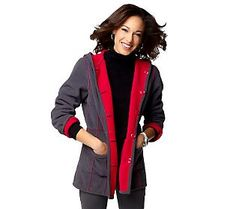 Pin to Win #SusanGraver Sweepstakes! {Bonded Fleece Reversible Bi-Color Hooded Coat} Enter here: http://sweeps.pinfluencer.com/QVC