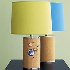 Bulletin Board Lamp - for the boys' rooms?