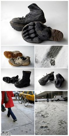 Awesome boots which leave animal tracks behind