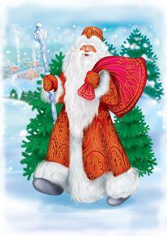 Santa on Satin