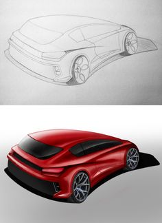 Speed painting car concept by A.POLO Make in PhotoShop