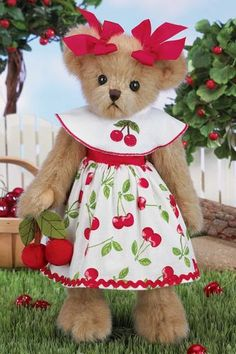 Cheri Cerry by Bearington Collection #Cherry #TeddyBear