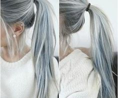 #bluehair #grayhair #trending