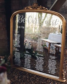 Table seating plan wedding mirror ideas for 2019 Mirror Seating Chart, Reception Seating Chart, Wedding Reception Seating, Seating Chart Wedding, Seating Charts, Table Seating, Wedding Signage, Wedding Tables, Wedding Hire